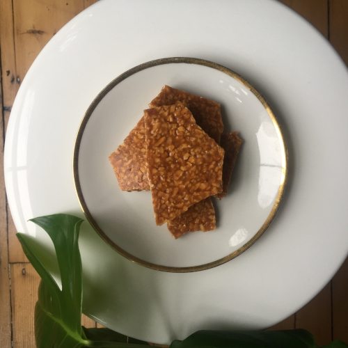 Almond, Orange, and Vanilla Brittle
