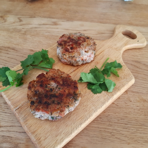 Free range pork burgers