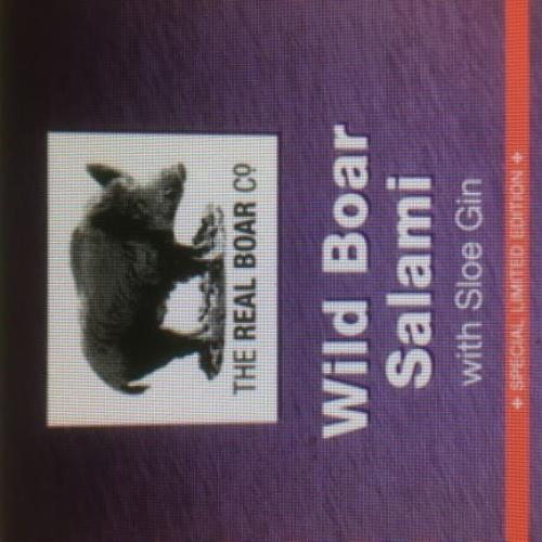 Wild Boar & Sloe Gin Salami