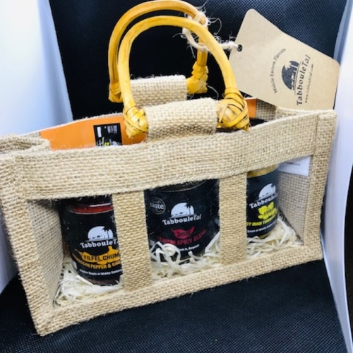 Middle Eastern condiments gift bag