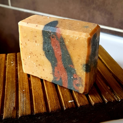 FRAGRANCE FREE HANDMADE PAPAYA CP SOAP Available In 120 g