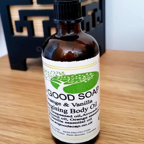 ALL NATURAL Energising Body Oil Orange & Vanilla  100 ml