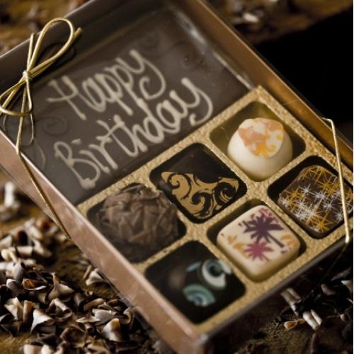 Happy Birthday Bar and 6 Handmade Chocolates