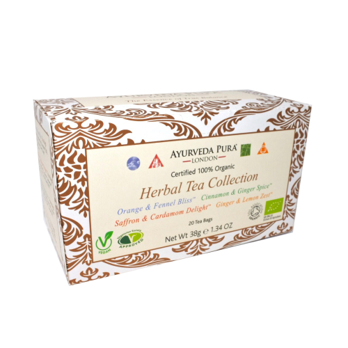 Herbal Tea CollectionTM - 5 sachets of Vata, Pitta. Kapha & Tridoshic Blend - 38g Box