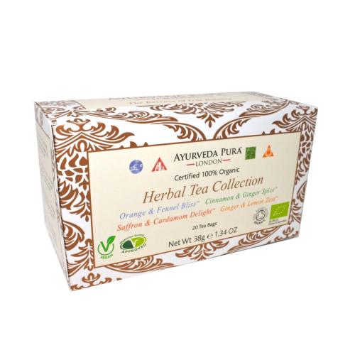 Herbal Tea CollectionTM - 5 sachets of Vata, Pitta. Kapha & Tridoshic Blend - 38g Box
