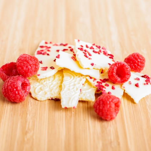 White Chocolate & Raspberry Bark