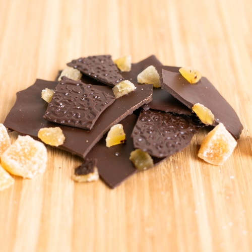 Ginger Spice Dark Chocolate Bark