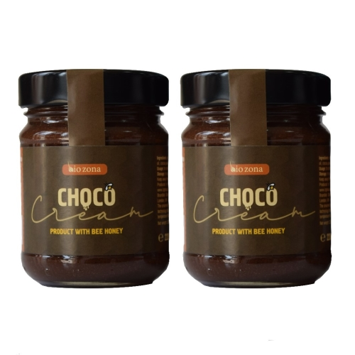 Bio Zona Choco Cream - Creamed Bee Honey With Chocolate and Hazelnut Butter (2 x 220 g)