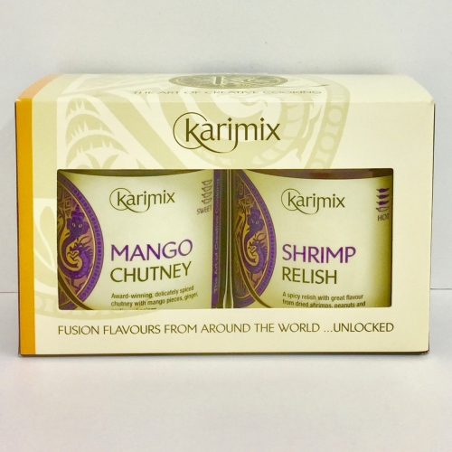 Karimix Pineapple Achar and Aubergine Pickle Duo Gift Pack