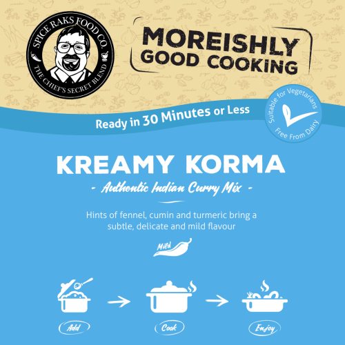 Sampler Pack No Frills Packaging - Chief's Kreamy Korma Curry Sauce Kit ( Dry Mix )