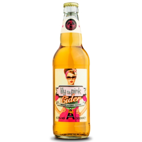 Lily the Pink Cider (500ml x 12 bottles)