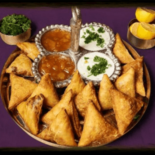 Samosa Wallah meat and veg Samosa (mixed: vegetable/vegan, lamb, chicken)
