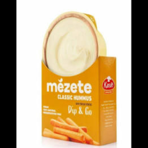 Mezete Dip & Go • Classic Hummus with Bread Sticks