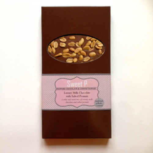 MILK CHOCOLATE BAR WITH SALTED PEANUTS