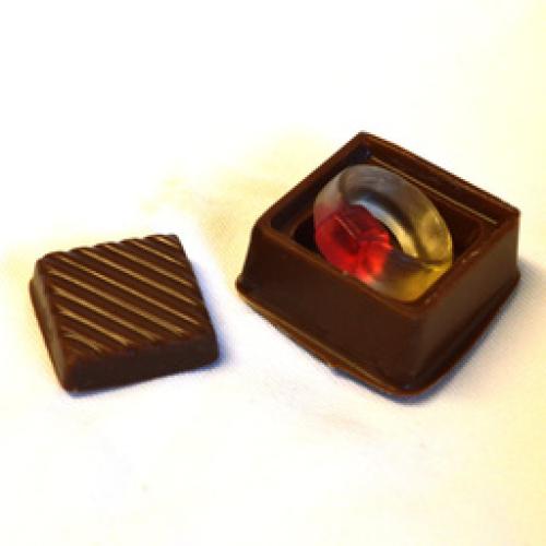 MILK CHOCOLATE ENGAGEMENT RING BOX