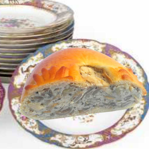 * NEW * 🌿 Russian Creamy Mushroom Gourmet Pie (v)