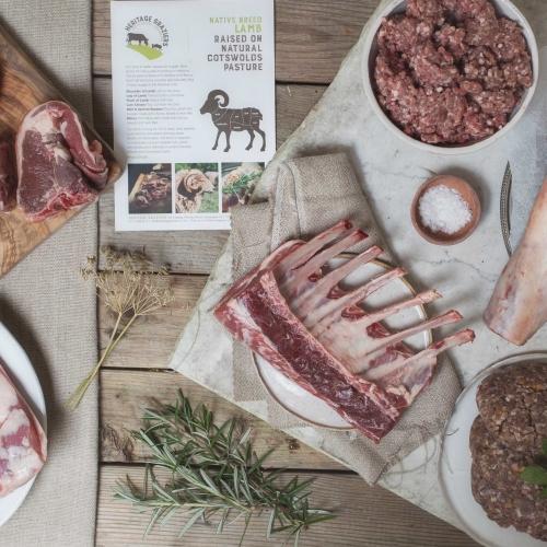 Grass fed, native breed lamb box
