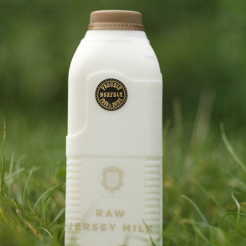6 Litres of Raw SKIMMED or SEMI SKIMMED Jersey Milk