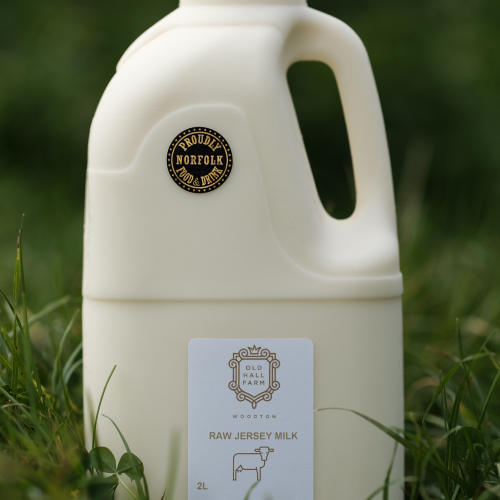 12 Litres of raw Jersey Milk