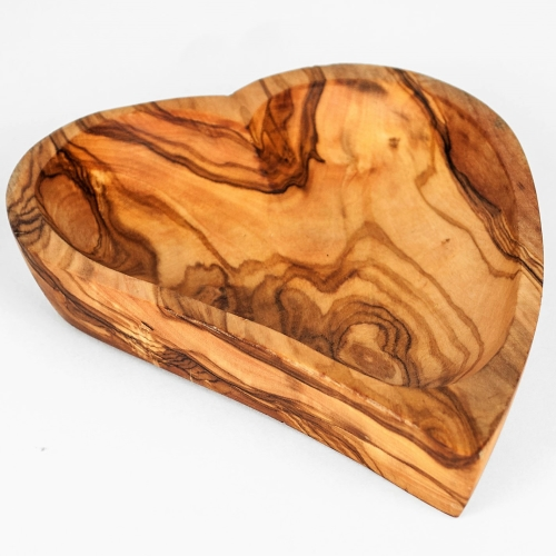 Olive Wood 'Heart' Nibbles dish