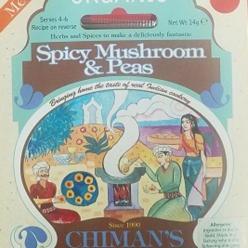 Spicy Mushroom & Peas spice mix (Org)