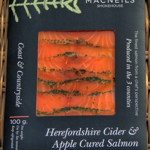 Herefordshire Cider & Apple Cured Salmon - Retail Pack 100g