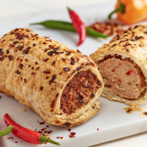 Pork, Sweet Chilli & Mixed Peppers Sausage Roll (frozen)