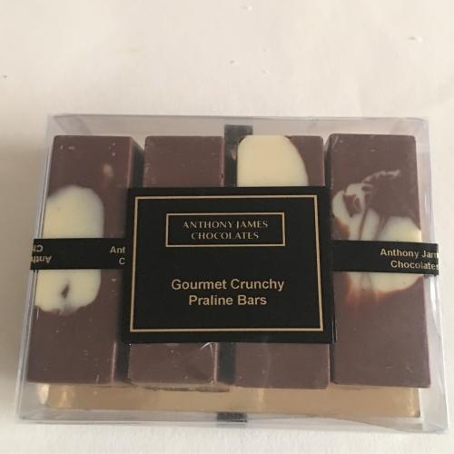 Gourmet Crunchy Praline Bars Pack of 4