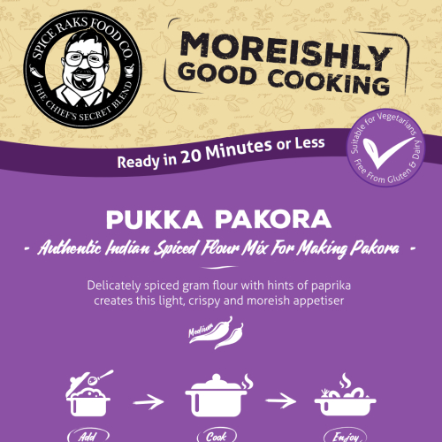 Pukka Pakora Mix - Just Add Vegetables - 100% Authentic Taste!