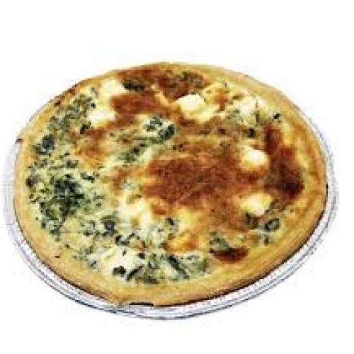 Slice of Spinach, Feta and Sun Dried Tomato Quiche