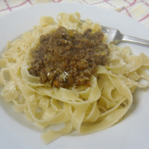 Ragu with lean mince beef