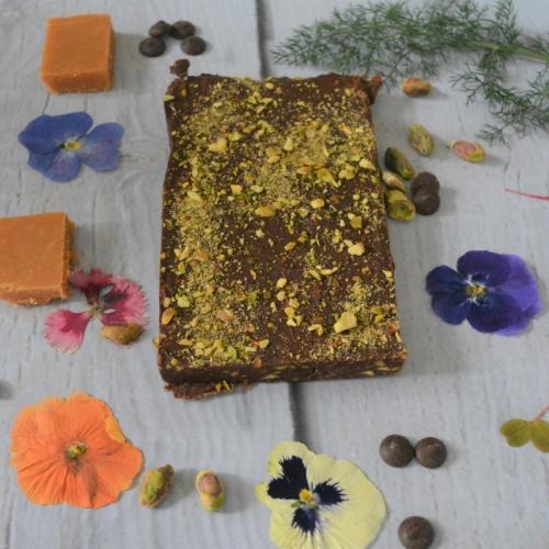 Artisan Rich Chocolate Fudge with Pistachios