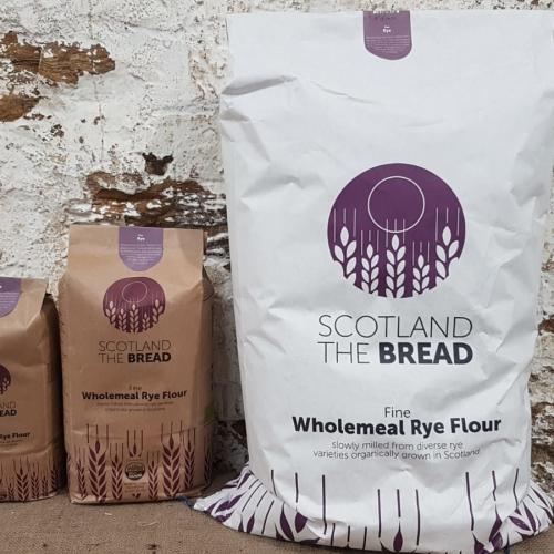 Wholemeal organic rye flour: Fulltofta