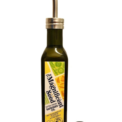 Magnificent Seed Rapeseed Oil in an Oil Pourer