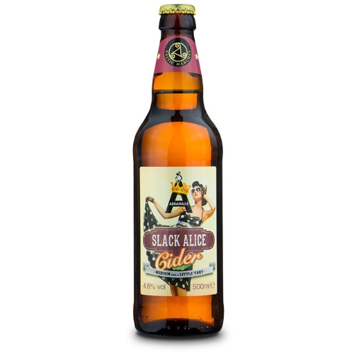 Slack Alice Medium Cider (500ml x 12 bottles)
