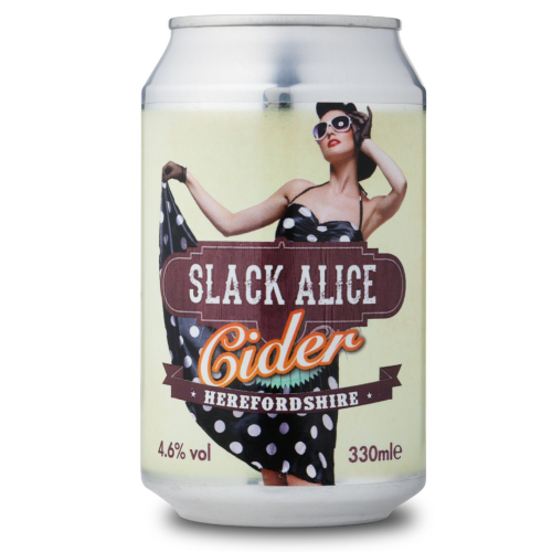 Slack Alice Medium Cider (330ml x 24 cans)