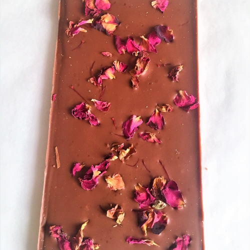 Saffron & Rose Single Origin Milk Chocolate 100g Ghana 40%
