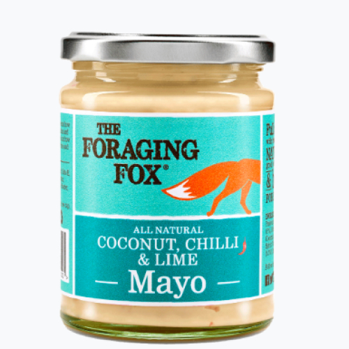 The Foraging Fox Coconut Chilli & Lime Mayo (6 x 240g) Retail Jar