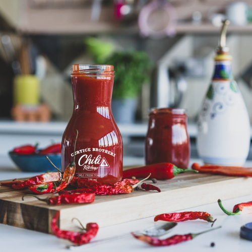 Curtice Brothers Double Award Winning Organic CHILLI Ketchup 6 pack
