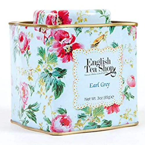 English Tea Shop Organic Earl Grey Floral pattern Tins- 85g Loose leaf Tea