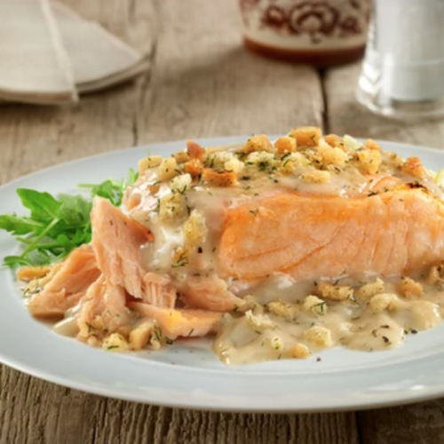 Salmon Fillets in Lemon & Dill Sauce