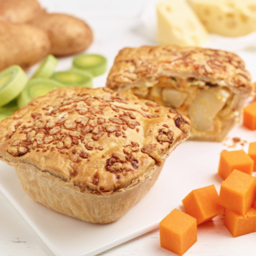 Butternut Squash, Leek & Potato Pie (frozen)