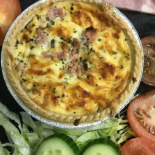 Cheese and Broccoli Quiche 5 inch