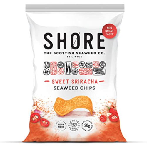 Shore Sweet Sriracha Seaweed chips 12 x 80g