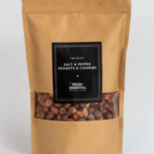 Fire Roast Nuts - Salt & Pepper Peanuts and Cashews
