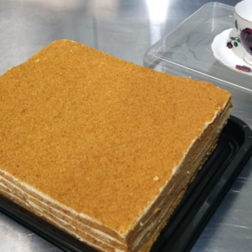 Russian Honey Cake 16 slices (v) - uncut