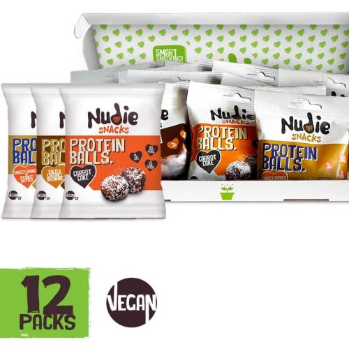 Choccy Orange & Peanut Butter, Salted Caramel & Carrot Cake Vegan Protein Balls - 12 x 42g