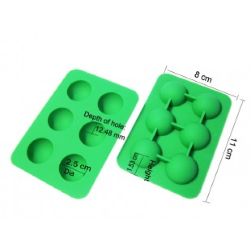 Small 6 Hemisphere Silicone Mould (8cm x 11cm)