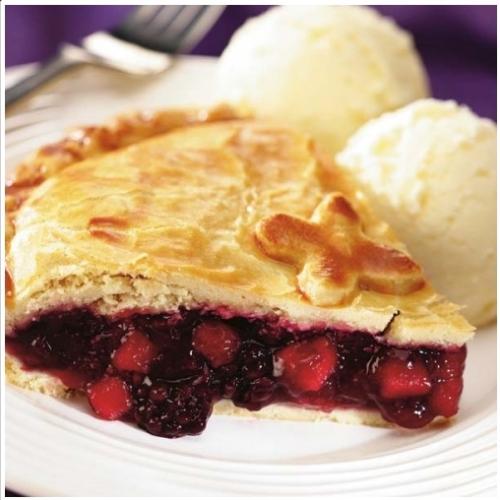 Large Apple & Blackberry Pie