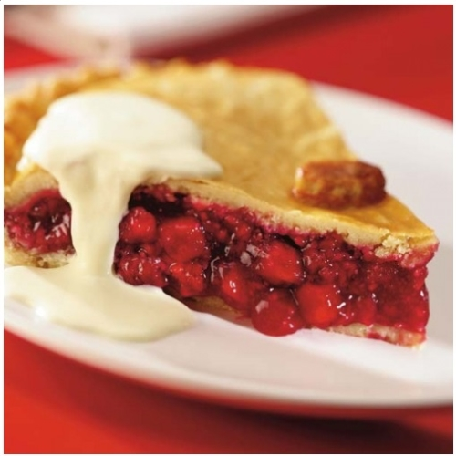 Large Apple & Raspberry Pie